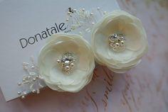 Wedding hair flower Bridal hair flower by DonataleFlowers4You
