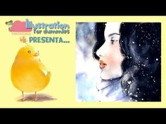 Watercolor free tutorials - Girl in the snow by Fantasvale  More free tutorials here:  www.youtube.com/Fantasvale