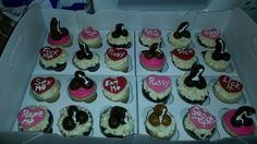 Adult themed cupcakes
