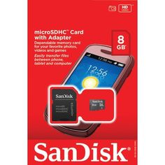 Sandisk Sdsdq-008G-A46A Microsdhc(Tm) Card With Sd(Tm) Adapter (8Gb)