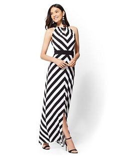 b3878c2cb93 Shop Chevron Halter Maxi Dress. Find your perfect size online at the best  price at New York   Company.