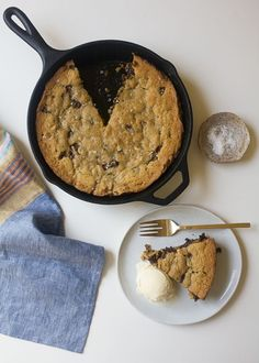 Dark Chocolate Chunk Walnut Skillet Cookie by esmeralda