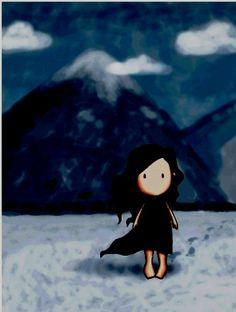 Gorjuss -  I Will Always Walk With You - blue