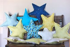 Love these star shaped pillows.  Would be great for making floor constellations when learning about astronomy!