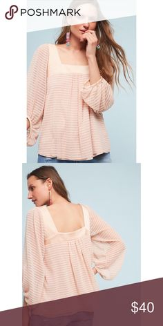 Anthropologie Meadow Rue Textured Top Come is described as Rose • SO pretty Anthropologie Tops