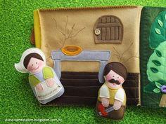 Mais um livro de feltro infantil para você! Moldes e passo a passo elaborados por Vanessa Biali. Desta vez, o tema escolhido foi João e Maria.