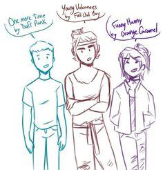 Zane , Cole and Nya