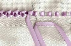 Pretty ribbon embroidery edging stitch                                                                                                                                                                                 More