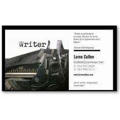Writer business card books worth reading pinterest business writer business card books worth reading pinterest business cards writer and business colourmoves