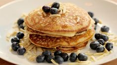 Pancakes can be sweet, tasty and healthy! Start your morning the right way while being gluten free with these fluffy blueberry almond pancakes.