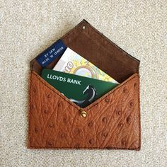 Leather Card Holder // Slim Wallet // Business Card by ByLawLondon
