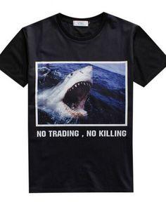 c23aff2924911 3D shark t shirt for men no trading no killing pattern Shark T Shirt