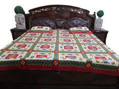Cotton Bedspreads by era chandok on Etsy