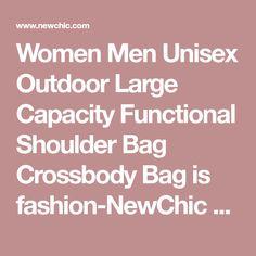 Women Men Unisex Outdoor Large Capacity Functional Shoulder Bag Crossbody Bag is fashion-NewChic Mobile