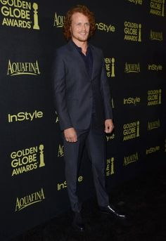 More Pics of Sam Heughan & Caitriona Balfe at the HFPA & InStyle Celebration of the 2015 Golden Globe Award Season – Nov. 20th | Outlander Online