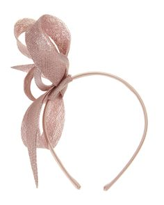 An elegant twisted bow fascinator set on a slim headband. Phase Eight 86d936617ec