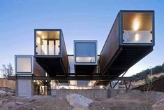 This in-your-face Chilean hillside house turns up the drama.   23 Surprisingly Gorgeous Homes Made From Shipping Containers