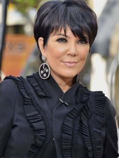 Hairstyles Kris Jenner Simple Short Hair Style , This Style Is Using Thinning Scissor For Cut The Hair Point Here Some Inspiration For Your Short Hair With Kris Jenner Hairstyles