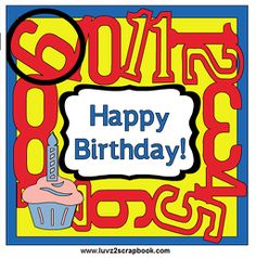Birthday Card in Numbers  using CTMH Artbooking Cartridge