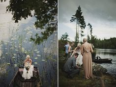 mystical forrest wedding. I like that there's a storm coming behind them...