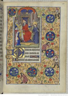 Horae ad usum romanum. 1401-1500 135R Pilot washing his hands I'm in love with all of the illumination in this Hours. It's all completely fabulous.