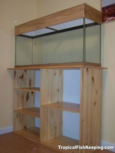 """Just measure your tank, as you desire give it maybe overhang on each side for the top of the stand. If you go to any home store they have """"shelf"""" wood . Diy Aquarium Stand, Wall Aquarium, Discus Aquarium, Aquarium Setup, Home Aquarium, Aquarium Design, Saltwater Aquarium, Aquarium Fish Tank, Freshwater Aquarium"""