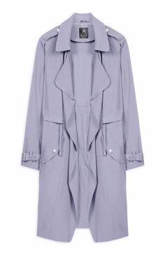 03a24d3ff9 Primark Womens Powder Blue Waterfall Drawstring Waist Jacket UK 12 #Primark  #TrenchCoatsMacs #Casual