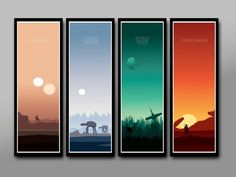 Force Inspired - Star Wars Star Wars Inspirited - Sunset Collection//Plus Force Awakens//Long Series - 12 x 36 Inches - Print 333 -