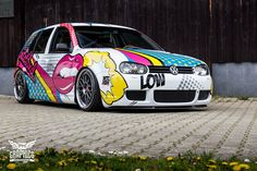 VW Golf MK4 #carwrapping #popart