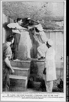 Howard Carter at the tomb of Tutankhamen, in the Valley of the Kings, near Luxor