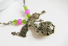 Charm necklace, by romanticcrafts, $21.00