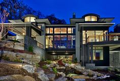 Neal Prince Studio | Glassy Mountain Road | Cliffs at Glassy  Expansive contemporary windows provide limitless views