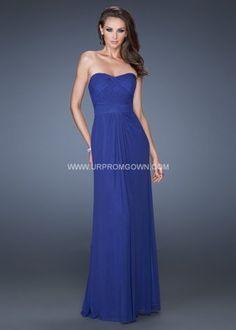 Long La Femme 19155 Strapless Sweetheart Formal Dress Indigo [La Femme 19155] formal dress