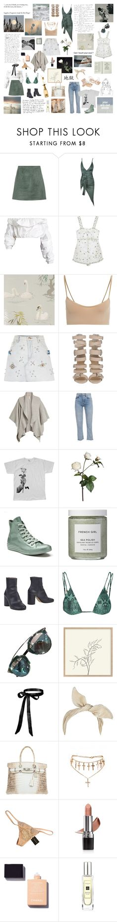 """""""Only those who will risk going too far can possibly find out how far one can go."""" by winchestery ❤ liked on Polyvore featuring Mon Cheri, Acne Studios, E L L E R Y, Sretsis, Nina Campbell, Hanro, River Island, Burberry, We Are Still Bold and Beautiful and Sia"""
