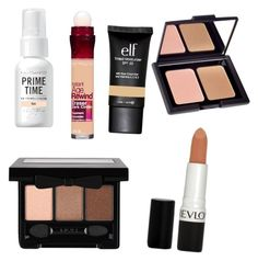 """Maddies Makeup"" by francesca-tbb ❤ liked on Polyvore featuring beauty, Maybelline, e.l.f., Bare Escentuals, NYX and Revlon"