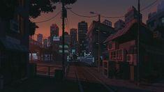 A subtle pixel-art gif by Waneella (crosspost from r/RelaxingGifs) Dank Gifs, Sunset Gif, Pixel Art Background, Arte 8 Bits, The Wombats, Anime City, 8bit Art, Anime Pixel Art, Pixel Animation