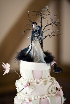 Corpse Bride Wedding Cake photo by STUDIO 1208