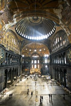 See these woorden, shiny Floors? Majestic. Hagia Sophia - Istanbul - Turkey