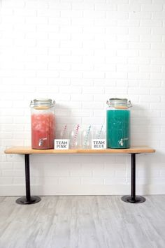 pink and blue drink recipe for gender reveal baby shower party by kara's party ideas