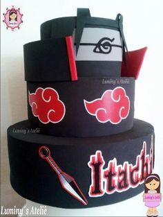 Itachi Uchiha, Naruto Sasuke Sakura, Naruto Uzumaki Shippuden, Bolo Do Naruto, Naruto Party Ideas, Naruto Merchandise, Anime Cake, Mode Poster, Birthday Cakes