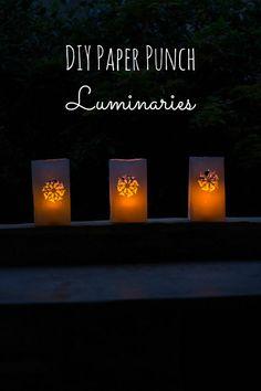 How to create safe paper bag luminaries pinterest walkways end of summer luminaries solutioingenieria Images