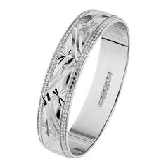 Buy 9ct White Gold 4mm Diamond Cut Milgrain Edge Wedding Ring at Argos.co.uk - Your Online Shop for Ladies' wedding rings and bands, Ladies' rings, Ladies' jewellery, Jewellery and watches.