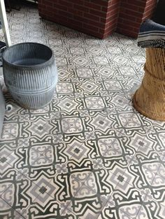 Decorative concrete doesn't have to be mundane, and this example proves it. These vividly patterned tiles make an aesthetically pleasing addition to any room. Using a stencil, technicians can etch and paint most patterns into the concrete foundation that lies beneath your current flooring.