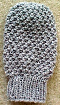 """Knit Dust Mitt -We have this on the """"customer request"""" list! This is one they ask for over and over again! Many tell us they use a thick sturdy cotton yarn, and use it to wash their cars! Great idea! We think this is a great item to have around the house.  Make some for your friends too, they will really appreciate it! Uses a thick worsted weight yarn, knitting needles US #10.5. Finished size is about 8 """" long that will fit most adults. You can make a little bit longer, if desired.  $1.50"""