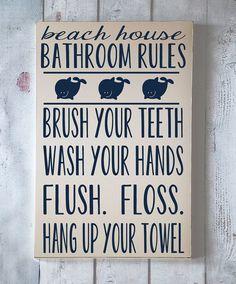 Enfants Wall Art - règles de salle de bain pour le thème Beach - typographie Art - plage maison salle de bain - baignoire - peint à la main en bois signe - votre choix de couleur sur Etsy, 37,47€