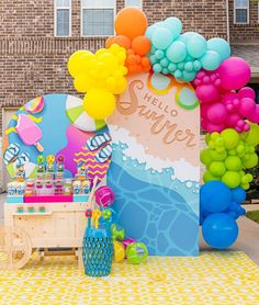 Barbie Birthday, 2nd Birthday, Birthday Parties, Balloon Decorations Party, Party Props, Pool Party Kids, Butterfly Party, Donut Party, Backdrops For Parties