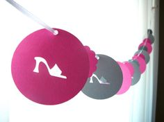 6 Foot - Bachelorette High Heel Stiletto Garland - available in your choice of colors  -  Party Banner Garland perfect for Bridal Showers