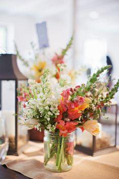 Wildflower arrangements: http://www.stylemepretty.com/little-black-book-blog/2014/12/01/rustic-el-chorro-lodge-wedding/ | Photography: Pinkerton - http://pinkertonphoto.com/