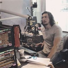 "He's like a big bear ❤ reylo11: ""Adam Driver recording his Radio Times interview. "" @1captainswan1 look at him"