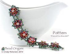 Poinsettia Bracelet - Cindy Holsclaw - Bead Origami